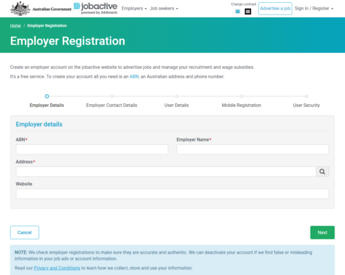 jobactive employer registration